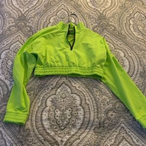 Forever 21 Neon Green Cropped Sweater